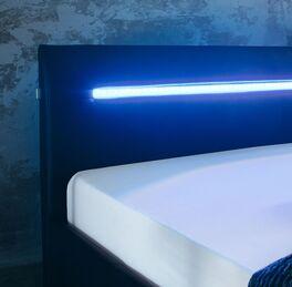 Bett Barda mit integrierter LED-Beleuchtung