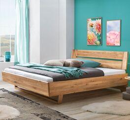 Bett Bekan aus zertifiziertem Wildeichenholz