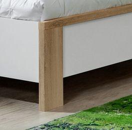 Bett Bellegra mit Füßen in Plankeneichen-Dekor