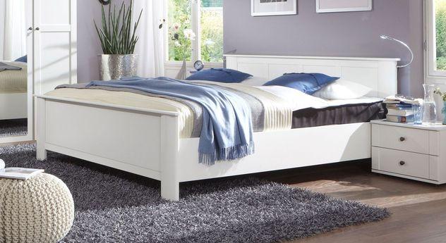Bett Berata in alpinweißem Dekor