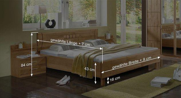 Bemaßungsskizze des Bett Beyla