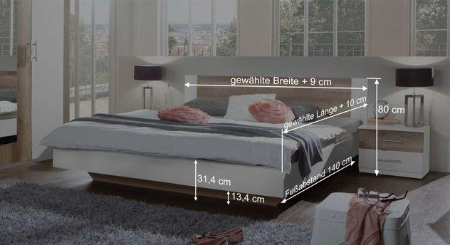Bett Boquilas Bemaßungsgrafik