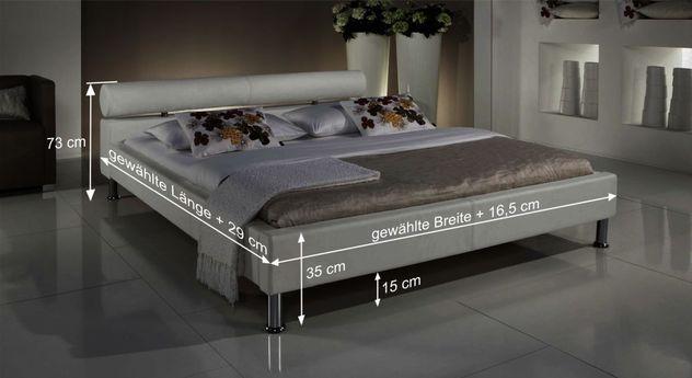 Bett Cambridge mit Bemaßungs-Skizze