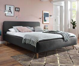 Preiswertes Bett Carballo im Stil der 60er Jahre