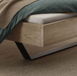 Modernes Bett Cenadro mit massivem Bettrahmen