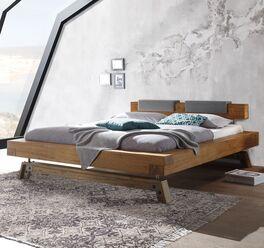 Bett Cheosta aus massivem Echtholz