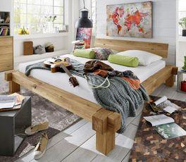 Bett-Unikat Corumba mit natürlicher Maserung