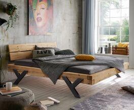 Bett Cuamba aus stabilem Fichtenholz