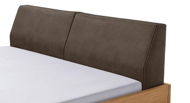Bett Dano mit Kopfteil aus Luxus-Kunstleder