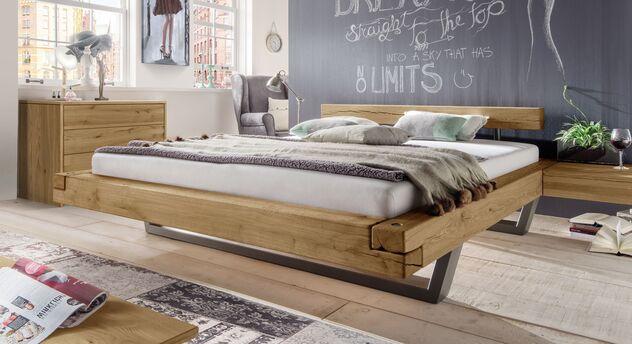 Massives Bett Darica mit Rahmen-Stecksystem