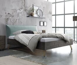 Bett Domenico in stilvollem Materialmix