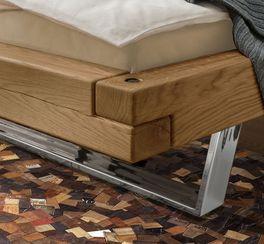 Rustikales Bett Doxato mit Eckverbindung