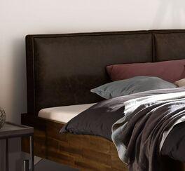 Bett Envigado mit Kopfteil aus Luxus-Kunstleder