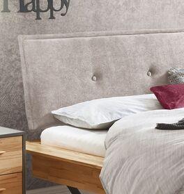 Bett Feruso mit Zierknöpfen im Kopfteil-Kissen