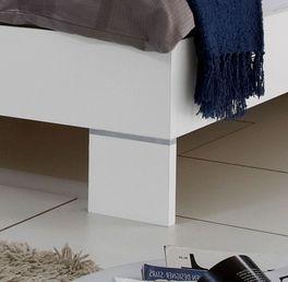 Bett Filetto mit geradlinigen Füßen