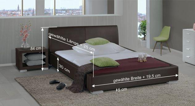 Bett Firenze mit Bemaßungs-Skizze