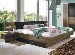 Bett-Gallinaro mit praktischen Stauraummöglichkeiten