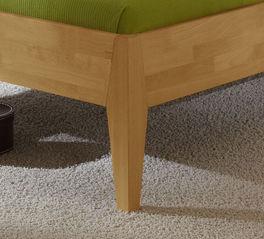 Bett Glarus Komfort mit konischen Holzfüßen
