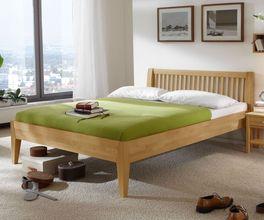 Schlichtes Bett Glarus aus guter Qualität