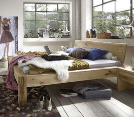 Helles Bett Imst aus weißer Wildeiche