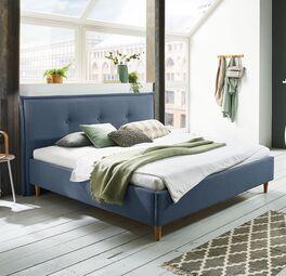 Bett indore mit hochwertigem Webstoffbezug