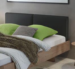 Bett Inesis mit breitem Polsterkopfteil