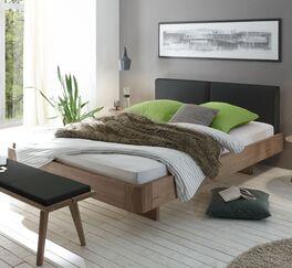 Bett Inesis mit geteiltem Polsterkopfteil