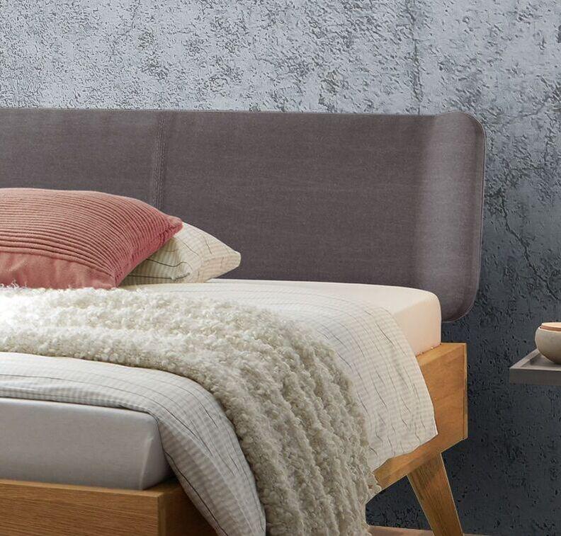 Bett Sandel mit Kopfteil aus Webstoff Used-Look