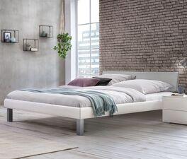 Preiswertes Bett Jagna in Weiß