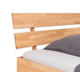 Bett Kasseris mit geteiltem Holzkopfteil