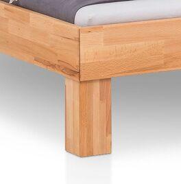 Bett Kasseris mit stabilen Blockfüßen