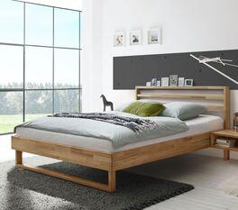 Preiswertes Bett Kian in natürlichem Look