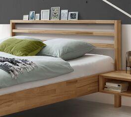 Trendiges Bett Kian mit Kopfteil-Regal