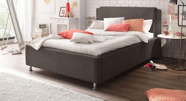 Dunkelbraunes Bett La Marsa mit 140 cm Bettbreite