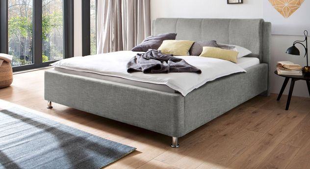 Bett La Marsa in Grau mit 180 cm Breite