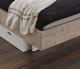 Bett Lemi mit Bettrahmen aus Massivholz