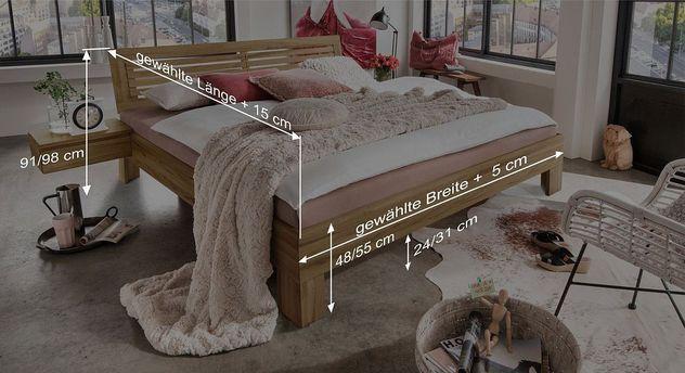 Bemaßungsskizze vom Bett Lienz