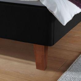 Bett Lopo mit Massivholz-Bettbeinen aus Buche