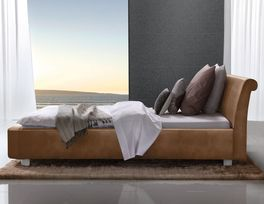 Komfort-Bett Macuma mit Kunstleder Polsterung