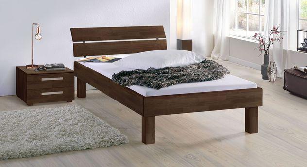 Wengefarbenes Bett Madrid Komfort in 25 cm Höhe