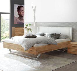 Bett Maldova aus trendiger Materialkombination