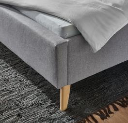 Bett Maliana abgerundete Füße aus Buchenholz