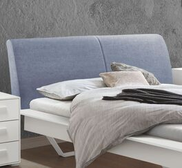 Bett Markia mit Webstoffbezug am Polsterkopfteil