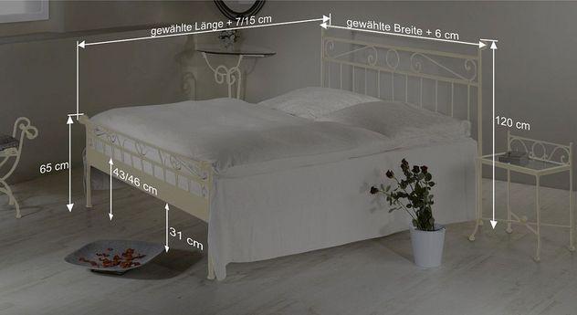 Bemaßungsskizze vom Bett Merlo