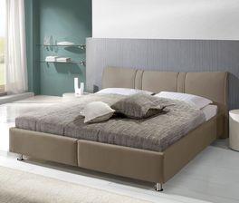 Design-Bett Messina mit Ziernähten