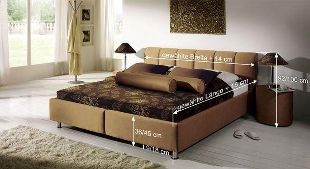 Bemaßungsskizze des Bettes Modica