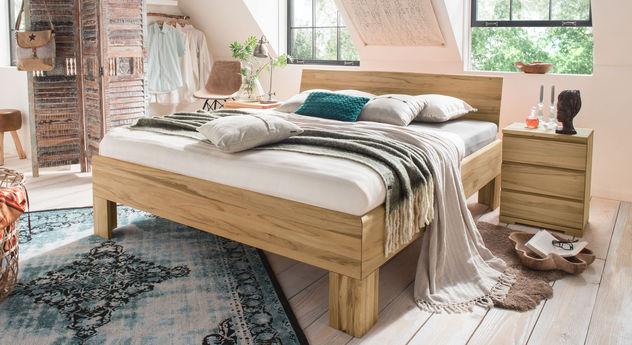 Bett Murau aus biologisch geöltem Massivholz