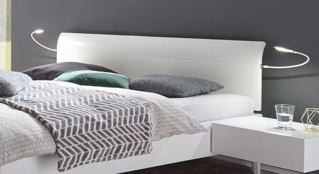 Schickes Bett Narva mit gerundetem Kopfteilende
