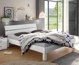 Elegantes Bett Norman in Weiß