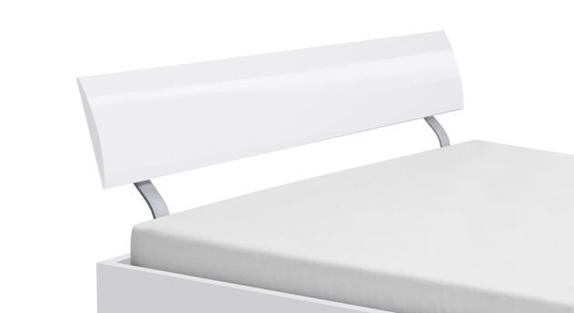 Bett Novara mit gewölbtem Design-Kopfteil